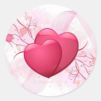 PERSONALIZE VALENTINE'S DAY / WEDDING ROUND STICKERS