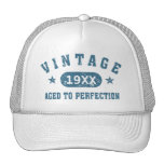 Personalize Vintage Aged to Perfection [blue] Cap