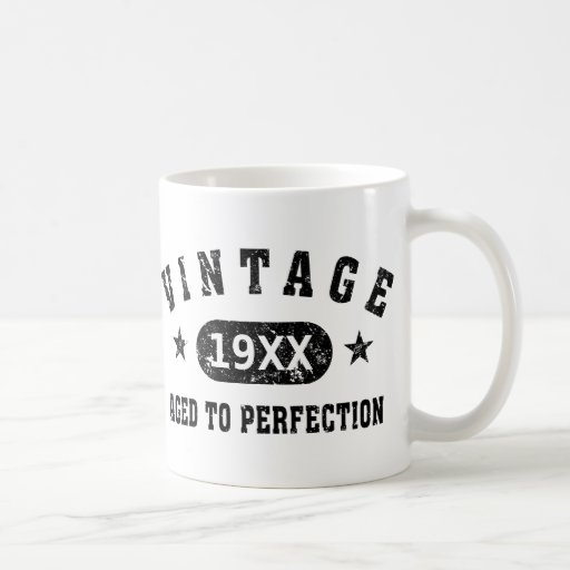 Personalize Vintage Aged to Perfection Coffee Mugs