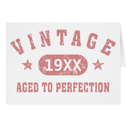 Personalize Vintage Aged to Perfection [pink] Card