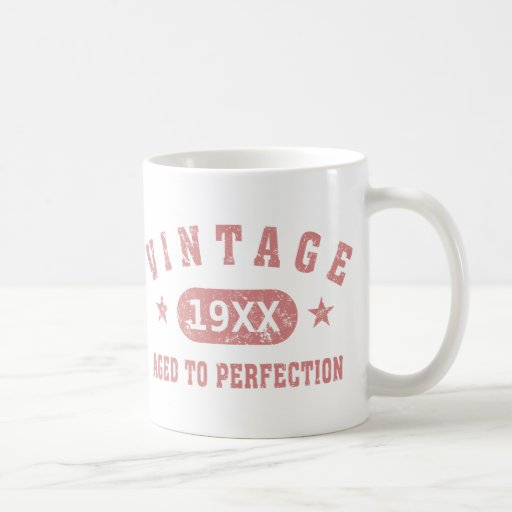 Personalize Vintage Aged to Perfection [pink] Mugs