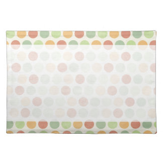 Personalize Vintage Polka Dots Placemats