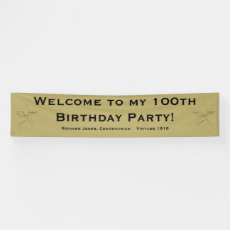 Personalize: Welcome to my 100th Birthday Party
