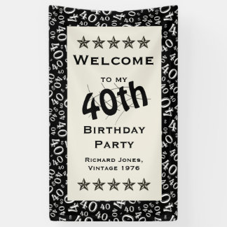 Personalize: Welcome to my 40th Birthday Party Banner