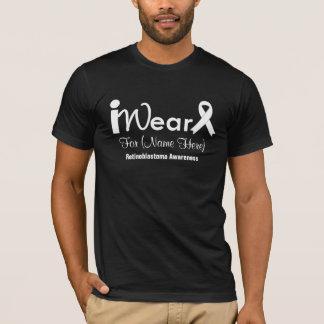 Personalize White Ribbon Retinoblastoma T-Shirt