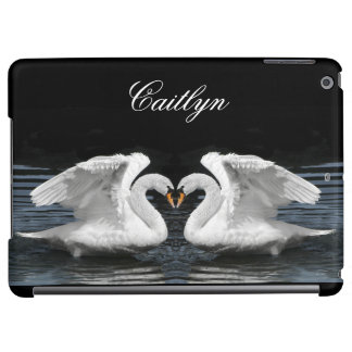Personalize: White Swans Mirror Image Picture