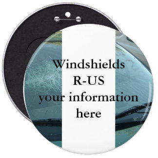 PERSONALIZE WINDSHIELDS REPAIR BUSINESS 6 CM ROUND BADGE