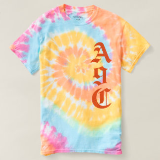 Personalize with 3 Letters Monogram Pastels Tee Shirt