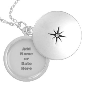 Personalize with My Own Text Name Locket Necklace