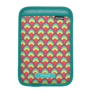 Personalize with Name Colorful Geometric Pattern iPad Mini Sleeve