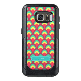 Personalize with Name Colorful Geometric Pattern OtterBox Samsung Galaxy S7 Case
