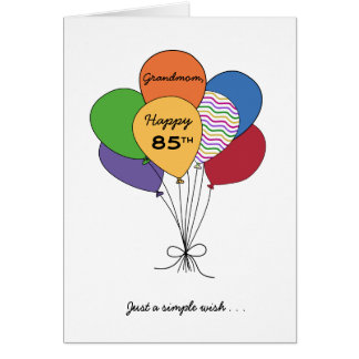 Personalize With Name~Happy 85th Birthday Wish Greeting Card