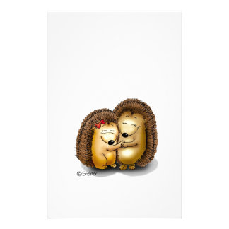 Personalize with name - Hugging Hedgehogs Stationery