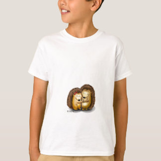 Personalize with name - Hugging Hedgehogs T-Shirt