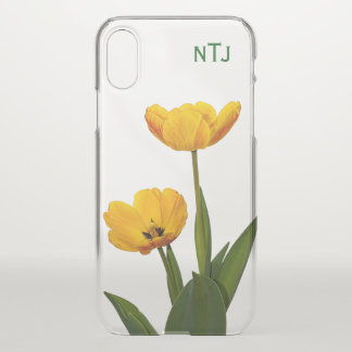 Personalize: Yellow Tulip Floral Photography iPhone X Case