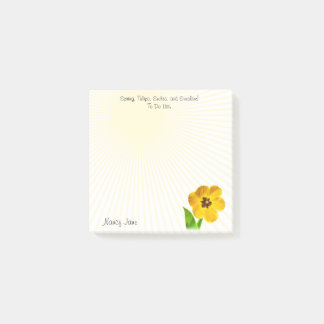 Personalize: Yellow Tulips Photography To Do List Post-it® Notes