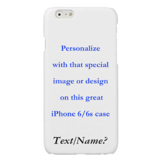 Personalize Your Custom Design or Image Black Text iPhone 6 Plus Case