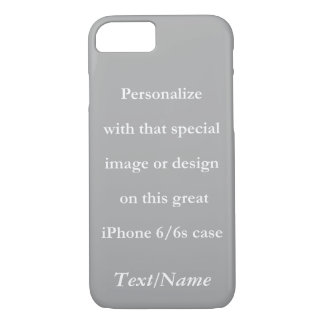 Personalize Your Custom Design or Image White Text iPhone 7 Case
