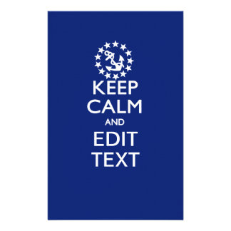 Personalize Your Nautical Keep Calm And Edit Text 14 Cm X 21.5 Cm Flyer