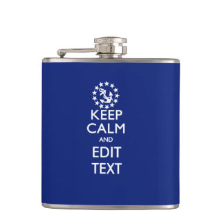 Personalize Your Nautical Keep Calm And Edit Text Hip Flask