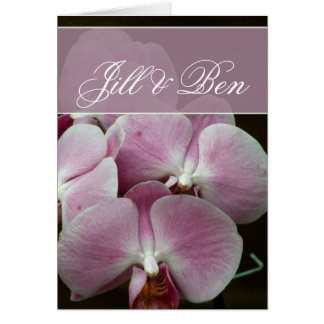 Personalize your own orchid design greeting card