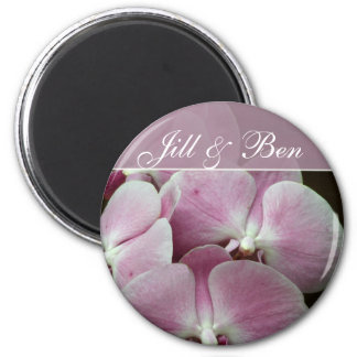Personalize your own orchid design magnet