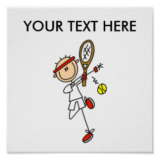 Personalize Yourself Men s Tennis Poster