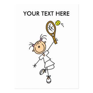 Personalize Yourself Men's Tennis Postcard