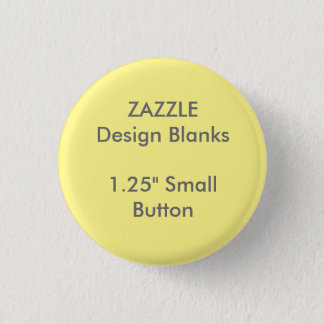 """Personalized 1.25"""" Small Round Button Pin Template"""