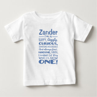 Personalized 1st Birthday One-Year-Old Shirt