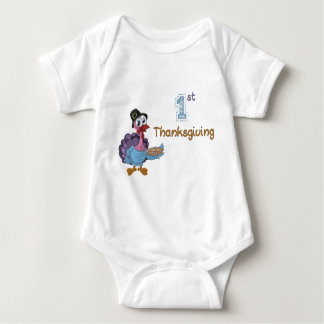 Personalized 1st Thanksgiving one piece body suit Baby Bodysuit