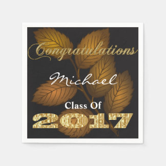 Personalized 2017 Graduation Disposable Serviette