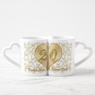 Personalized 20 Year Wedding Anniversary Gift Mugs