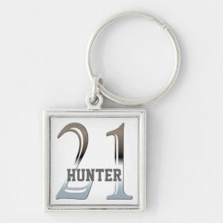 Personalized 21st Birthday Silver Number 21 Key Ring