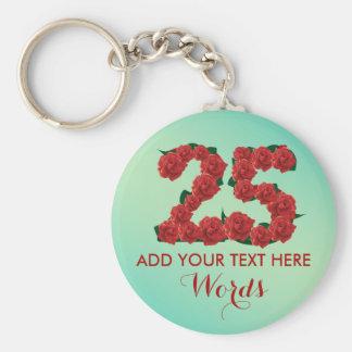Personalized 25th birthday 25 anniversary Keychain