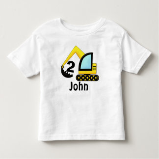 Personalized 2nd etc Construction Truck Tractor Toddler T-Shirt