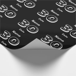 Personalized 30th Birthday Wrapping Paper