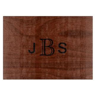Personalized 3 Initial Monogram Wood Pattern Cutting Board