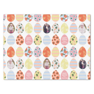 Personalized 3 Photo Easter Eggs Tissue Paper