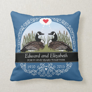 Personalized 45th Wedding Anniversary, Geese Cushion