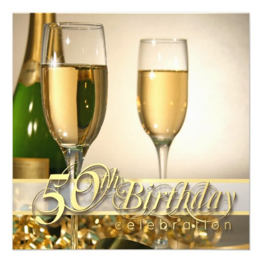 Personalized 50th Birthday Party Invitations