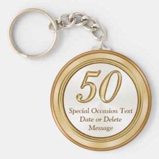 Personalized 50th Reunion Gifts Keychains