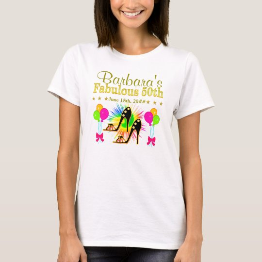 PERSONALIZED 50TH SHOE QUEEN T SHIRT