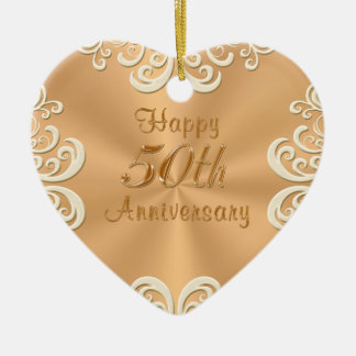 Personalized 50th Wedding Anniversary Ornament