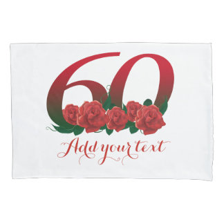 Personalized 60th birthday add text pillow cover