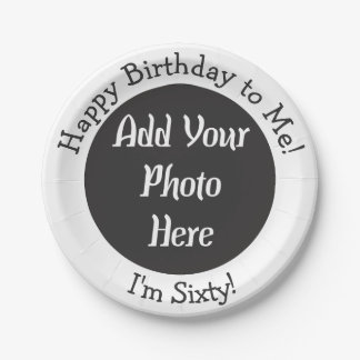 Personalized 60th Birthday Photo Paper Plate