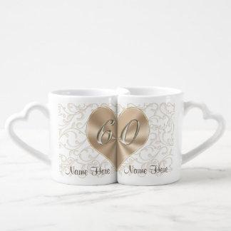 Personalized 60th Wedding Anniversary Lovers Mugs Lovers Mug