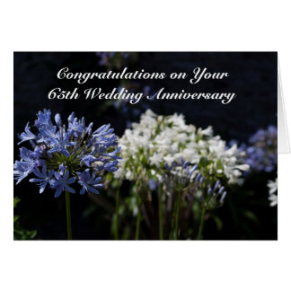 Personalized 65th Wedding Anniversary / Any Year Greeting Card