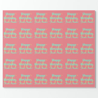 Personalized 66th Birthday Wrapping Paper