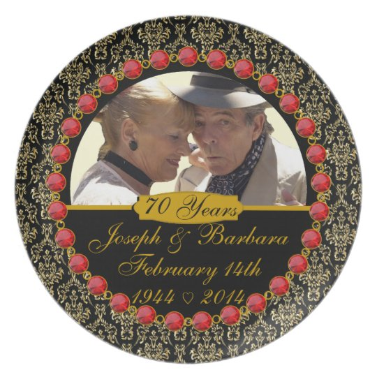 PERSONALIZED 70th Anniversary Photo Display Plate